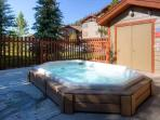 Two covered hot-tubs on the property.