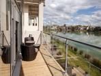Great views from the elevated upper floor living & dining areas