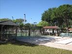 Bacci and Shuffleboard Courts with another Tennis Court in background