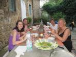 Friends at an alfresco lunch