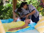 Have a massage with a friend in the hut overhanging the pool.