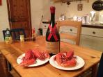 Lobsters in the kitchen!
