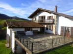La casa y la terraza