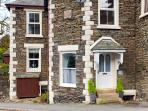 Front of Revel Stones corner of a quiet residential road 2 minutes from Bowness & Lake Windermere