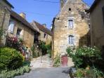 Meyrals village - medieval buildings just 300 metres away