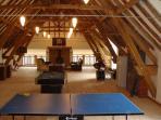 Table tennis, Pool, Darts, Table Football, TV, Wi Fi, Bar Area, Drum Kit, Guitars, Sitting Area.