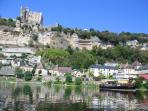 Beynac castle and Dordogne river taken from a canoe