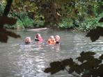 Swimming in our pool or our river