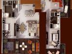 Master Villa is a combination of the Luxxe Villa and the Junior Villa