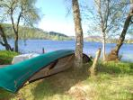 Boats available to take out and enjoy the stunning scenery on Loch Knockie.