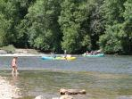 Kayaking on the river aveyron is just minutes away - also bike hire, acrobranch and horse riding