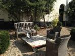Enjoy the quiet courtyard