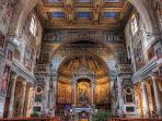 The little old Santa Prassede, among the oldest in Rome, 2-minutes walking from the apartment.