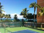 recently renovated tennis court