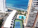 apt complex, the apartment is one of the cabanas (low rise apt - left of pic) by the pool