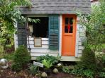 The 'Tea House' ~ play house for children filled with surprises.