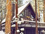 Charming A Frame Swiss Chalet with Snow close to skiing slopes