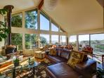 Sunny Living Area with Monterey Bay Views