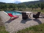 Wonderful views of Mont Ventoux from the pool