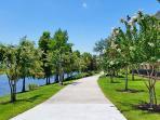 Walking/running  trail around Lake Cay