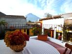 Villa Santa Ana - Upstairs Terrace with views to the Agua Volcano
