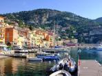 The stunning fishing village of Villefranche-sur-Mer
