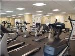 After a rough day of lounging on the beach, you may need to try the state-of the-art fitness center.