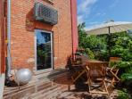 outdoor terrace and furniture. photo: Tarmo Friedman
