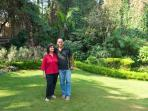 The Host pearl and shashi in the Garden of BNB