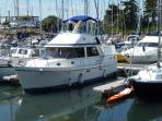 Ariane 35' luxury motor yacht - step aboard for the ultimate marina experience!