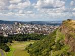 Arthur's seat, Salisbury Crags - just a short wander from your holiday apartment