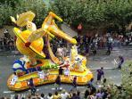 The fiesta, last Friday in August, the battle of the flowers