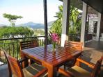 First Level Covered Terrace With Mountain And Beach Views