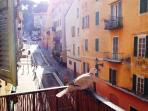 The balcony - and a visiting dove! :-)