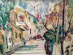 Kantouni Corfu town from painter Angelos Kontis that lived and painted in our house.