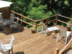 Sprawling Deck with Dining and Lounging Options