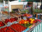 Brilliant produce at Aulnay's large Sunday market. Stock up with some beautiful French produce.