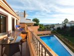 View of the Pool, Fuengirola and the Mediterranean Sea.