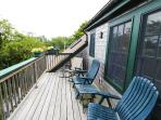 The Loft deck features sunset views of the National Seashore and the Province Lands.