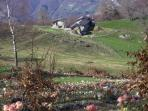 Behind the village at 1250 meters
