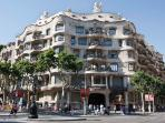 La Pedrera, just 10 minutes walking from the apartment