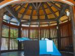 cabanas in the garden for massage