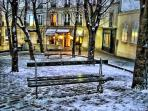 at the corner of my street.Place Emile Goudeau. Nice enchanting any seasons