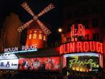 the famous ' Moulin Rouge' in the neighborhood