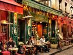 Old cafés from Montmartre