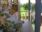 Long verandahs for relaxing and reading