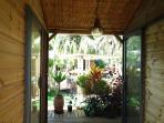 prise de la terrasse intermédiaire (chambre/cuisine) du bungalow de 25 M²