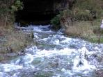 Source of The River Lathkill. 30 minutes walk away