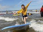 Surfing at Enniscrone