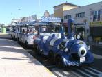 hourly G.A train to beach shops more bar areas